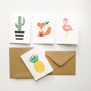 Set of 4 - Mini - Assorted Mini Gift Cards by mumandmehandmadedesigns- An Australian Online Stationery and Card Shop