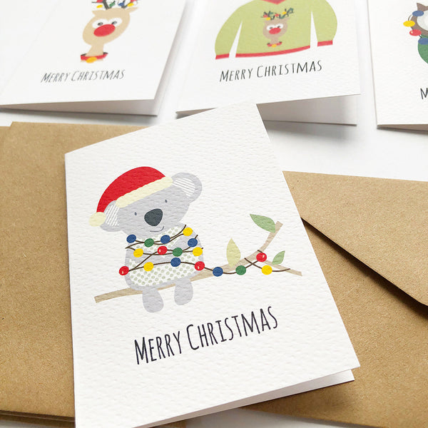 Set of 4 - Mini - Christmas Mini Gift Cards by mumandmehandmadedesigns- An Australian Online Stationery and Card Shop