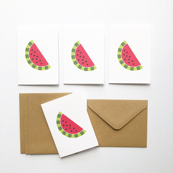 Set of 4 - Mini - Watermelon Mini Gift Cards by mumandmehandmadedesigns- An Australian Online Stationery and Card Shop