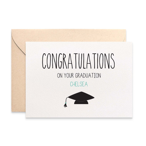 Personalised Graduation Greeting Card by mumandmehandmadedesigns- An Australian Online Stationery and Card Shop