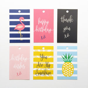 Set of 6 - Stylish Gift Tags