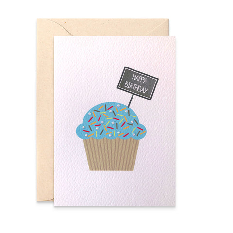 Cupcake with Chalkboard Greeting Card by mumandmehandmadedesigns- An Australian Online Stationery and Card Shop