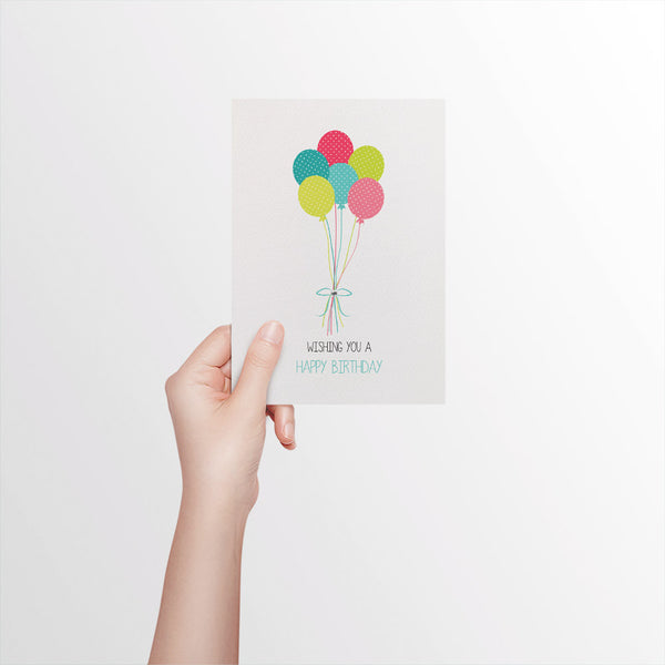 Birthday Balloons Greeting Card by mumandmehandmadedesigns- An Australian Online Stationery and Card Shop