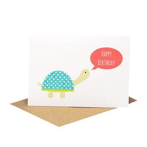 Turtle with Speech Bubble Greeting Card by mumandmehandmadedesigns- An Australian Online Stationery and Card Shop