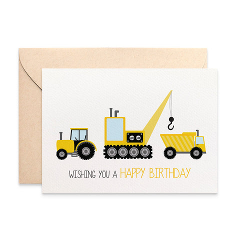 Construction Time Greeting Card by mumandmehandmadedesigns- An Australian Online Stationery and Card Shop