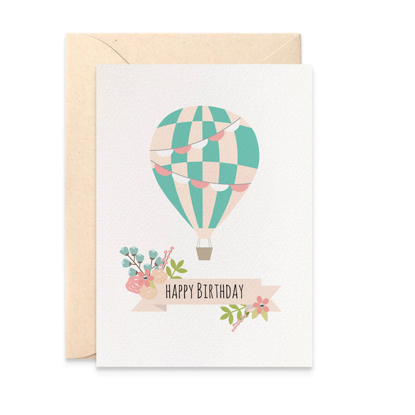 Hot Air Balloon Greeting Card by mumandmehandmadedesigns- An Australian Online Stationery and Card Shop