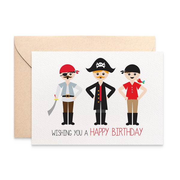 Pirates Greeting Card by mumandmehandmadedesigns- An Australian Online Stationery and Card Shop