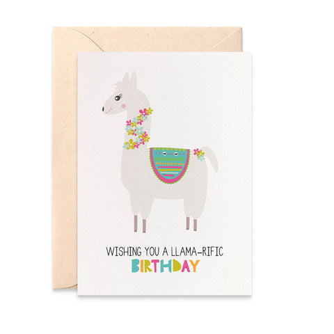 Llama Greeting Card by mumandmehandmadedesigns- An Australian Online Stationery and Card Shop