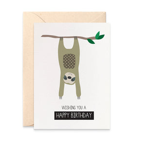 Sloth Greeting Card by mumandmehandmadedesigns- An Australian Online Stationery and Card Shop