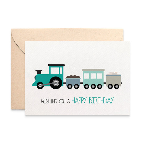 Train Greeting Card by mumandmehandmadedesigns- An Australian Online Stationery and Card Shop