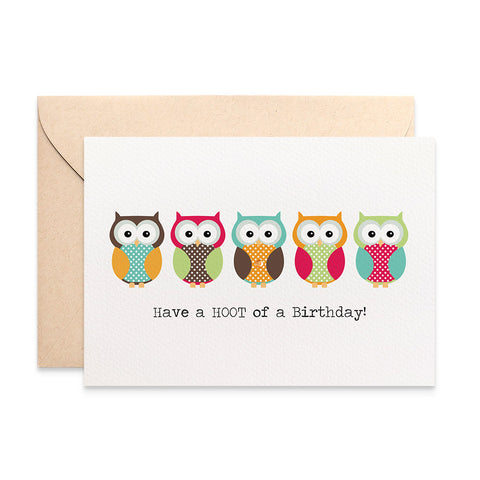 Bright Owls Greeting Card by mumandmehandmadedesigns- An Australian Online Stationery and Card Shop
