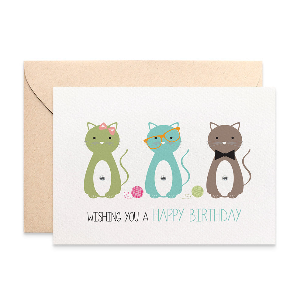 Kitty Cats Greeting Card by mumandmehandmadedesigns- An Australian Online Stationery and Card Shop