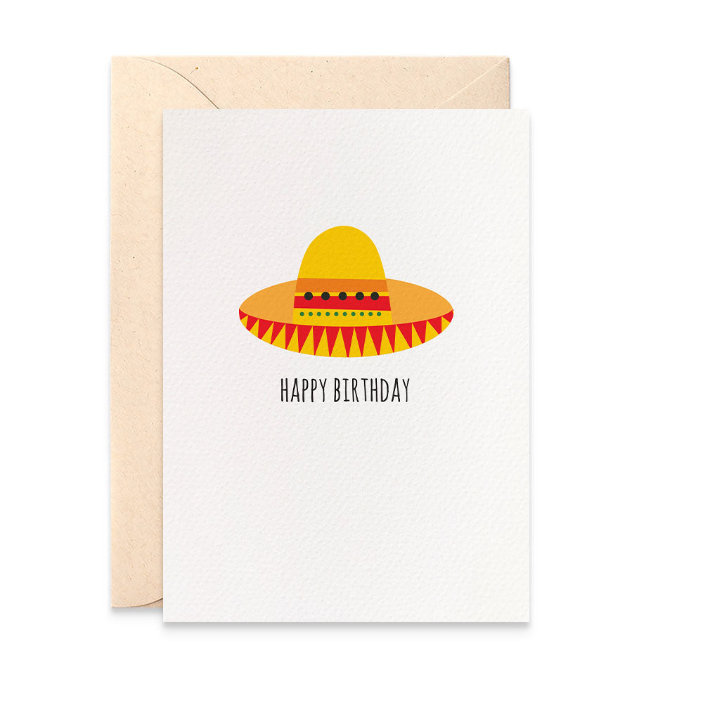 Sombrero Hat Greeting Card by mumandmehandmadedesigns- An Australian Online Stationery and Card Shop