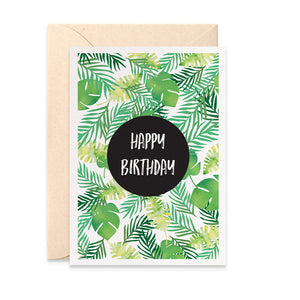 Tropical Leaves Greeting Card by mumandmehandmadedesigns- An Australian Online Stationery and Card Shop