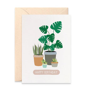 Indoor Plants Greeting Card by mumandmehandmadedesigns- An Australian Online Stationery and Card Shop