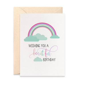 Rainbow Greeting Card by mumandmehandmadedesigns- An Australian Online Stationery and Card Shop