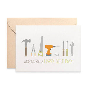 Tools Greeting Card by mumandmehandmadedesigns- An Australian Online Stationery and Card Shop