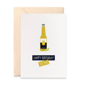 Beer with Lime Greeting Card by mumandmehandmadedesigns- An Australian Online Stationery and Card Shop