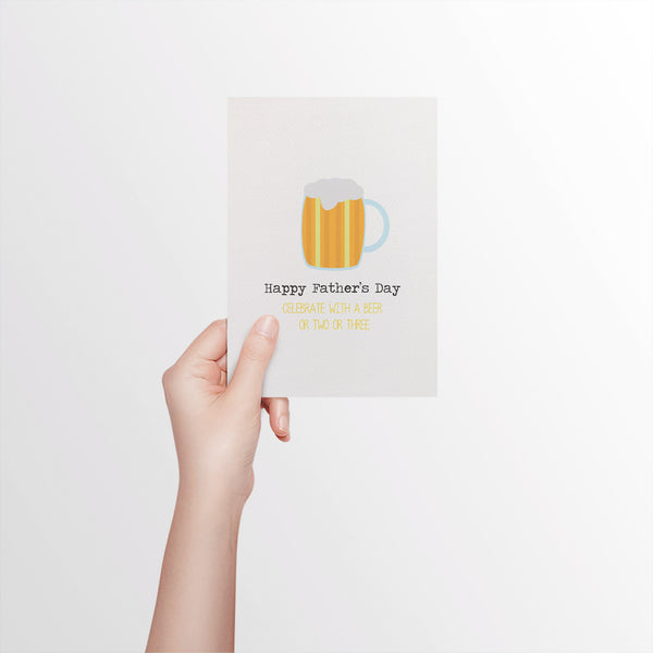 Beer Mug Greeting Card by mumandmehandmadedesigns- An Australian Online Stationery and Card Shop