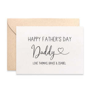 Personalised Father's Day Greeting Card by mumandmehandmadedesigns- An Australian Online Stationery and Card Shop