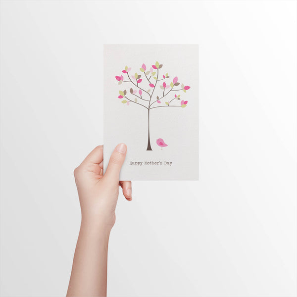 Tree with Polkadot Leaves Greeting Card by mumandmehandmadedesigns- An Australian Online Stationery and Card Shop