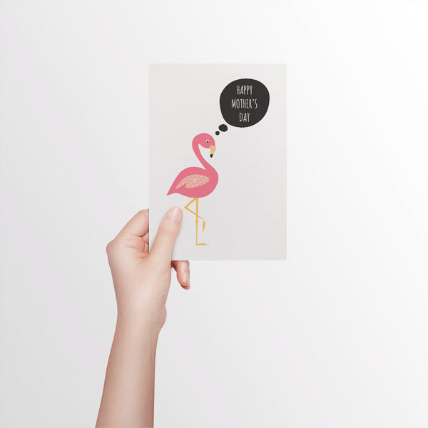 Flamingo Card for Mum Greeting Card by mumandmehandmadedesigns- An Australian Online Stationery and Card Shop