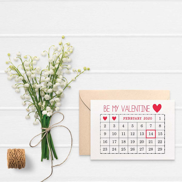 February Calendar 2019 Greeting Card by mumandmehandmadedesigns- An Australian Online Stationery and Card Shop