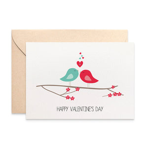 Valentine's Day Love Birds Greeting Card by mumandmehandmadedesigns- An Australian Online Stationery and Card Shop