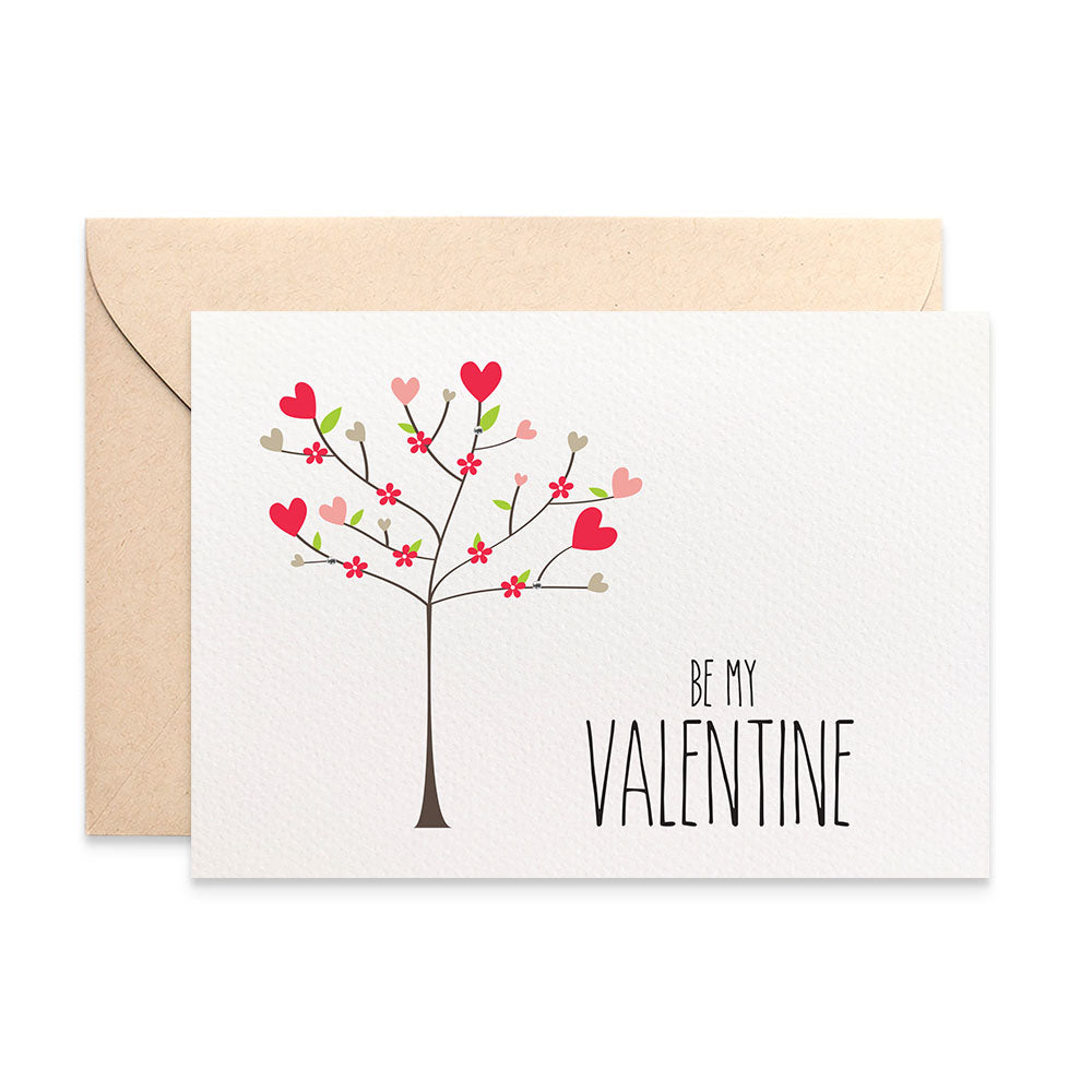 Love Heart Valentine's Day Tree Greeting Card by mumandmehandmadedesigns- An Australian Online Stationery and Card Shop