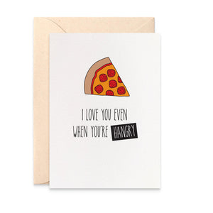 Hangry Pizza Greeting Card by mumandmehandmadedesigns- An Australian Online Stationery and Card Shop