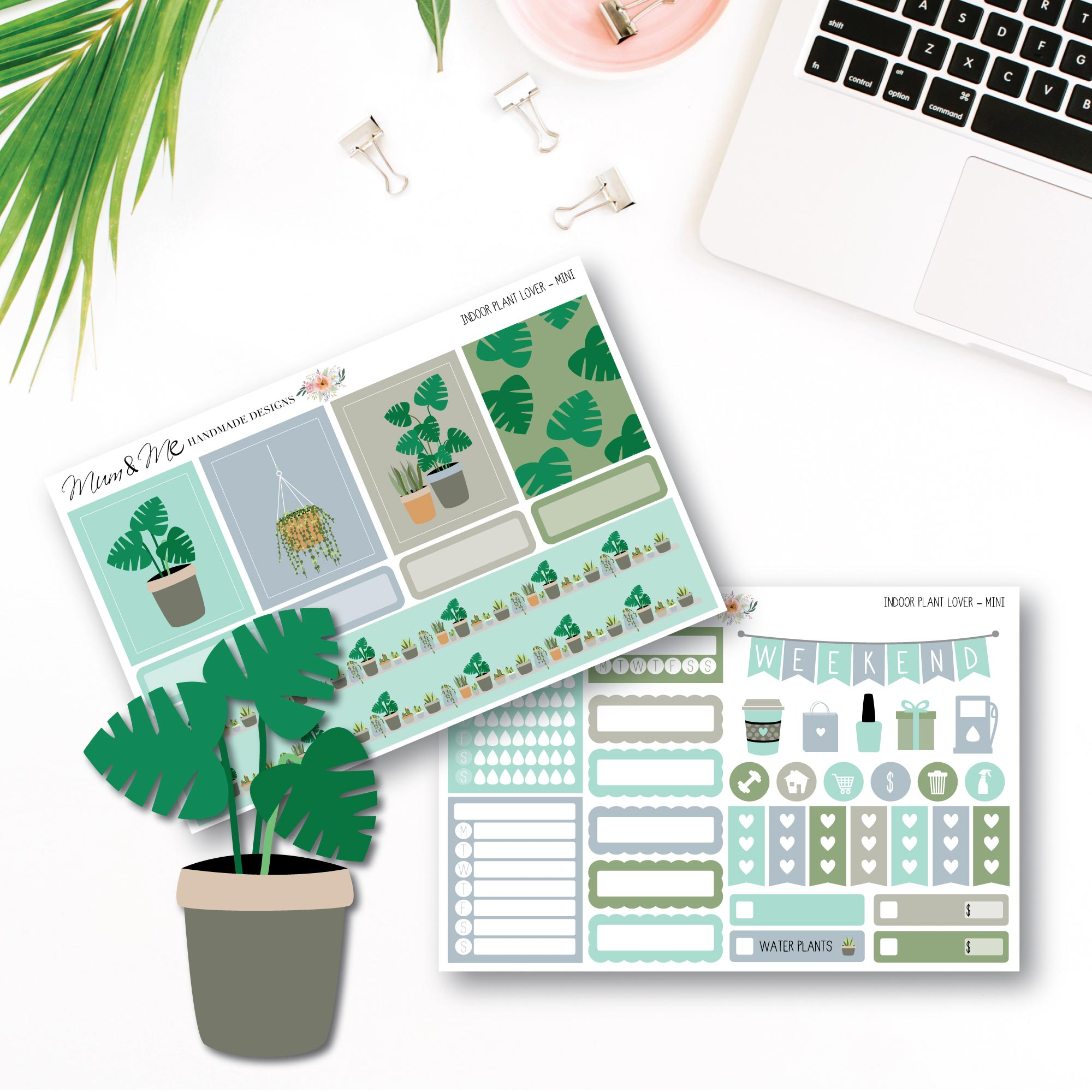 Mini Kit - Plant Lover-Planner Stickers by Mum and Me Handmade Designs - An Australian Online Stationery, Planner Stickers and Card Shop