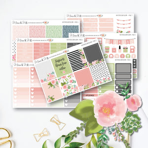 Weekly Kit - Watercolour Bloom-Planner Stickers by Mum and Me Handmade Designs - An Australian Online Stationery, Planner Stickers and Card Shop
