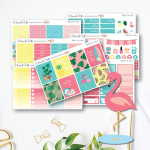 Weekly Kit - Tropical Fun-Planner Stickers by Mum and Me Handmade Designs - An Australian Online Stationery, Planner Stickers and Card Shop