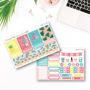 Mini Kit - Tropical Fun Planner Stickers by mumandmehandmadedesigns- An Australian Online Stationery and Card Shop