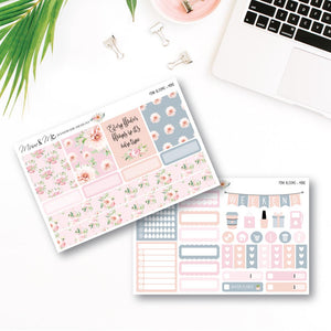 Mini Kit - Pink Blooms Planner Stickers by mumandmehandmadedesigns- An Australian Online Stationery and Card Shop