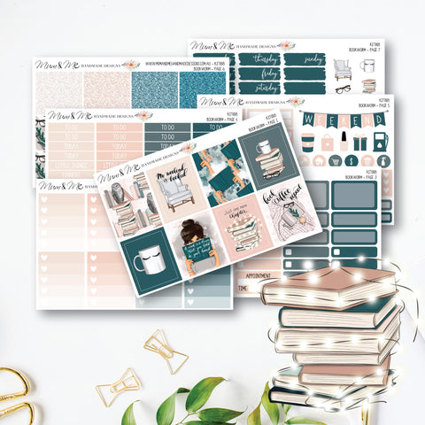 Weekly Kit: Bookworm-Planner Stickers by Mum and Me Handmade Designs - An Australian Online Stationery, Planner Stickers and Card Shop