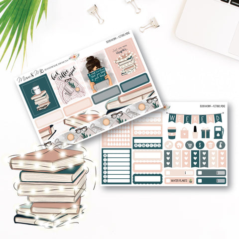 Mini Kit: Bookworm Planner Stickers by mumandmehandmadedesigns- An Australian Online Stationery and Card Shop