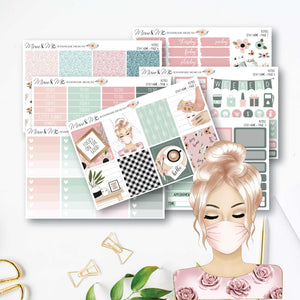 Weekly Kit: Stay Home-Planner Stickers by Mum and Me Handmade Designs - An Australian Online Stationery, Planner Stickers and Card Shop