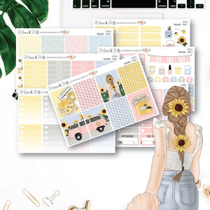 Weekly Kit: Sunshine-Planner Stickers by Mum and Me Handmade Designs - An Australian Online Stationery, Planner Stickers and Card Shop