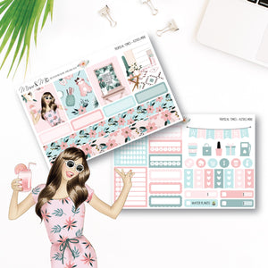 Mini Kit: Tropical Times-Planner Stickers by Mum and Me Handmade Designs - An Australian Online Stationery, Planner Stickers and Card Shop