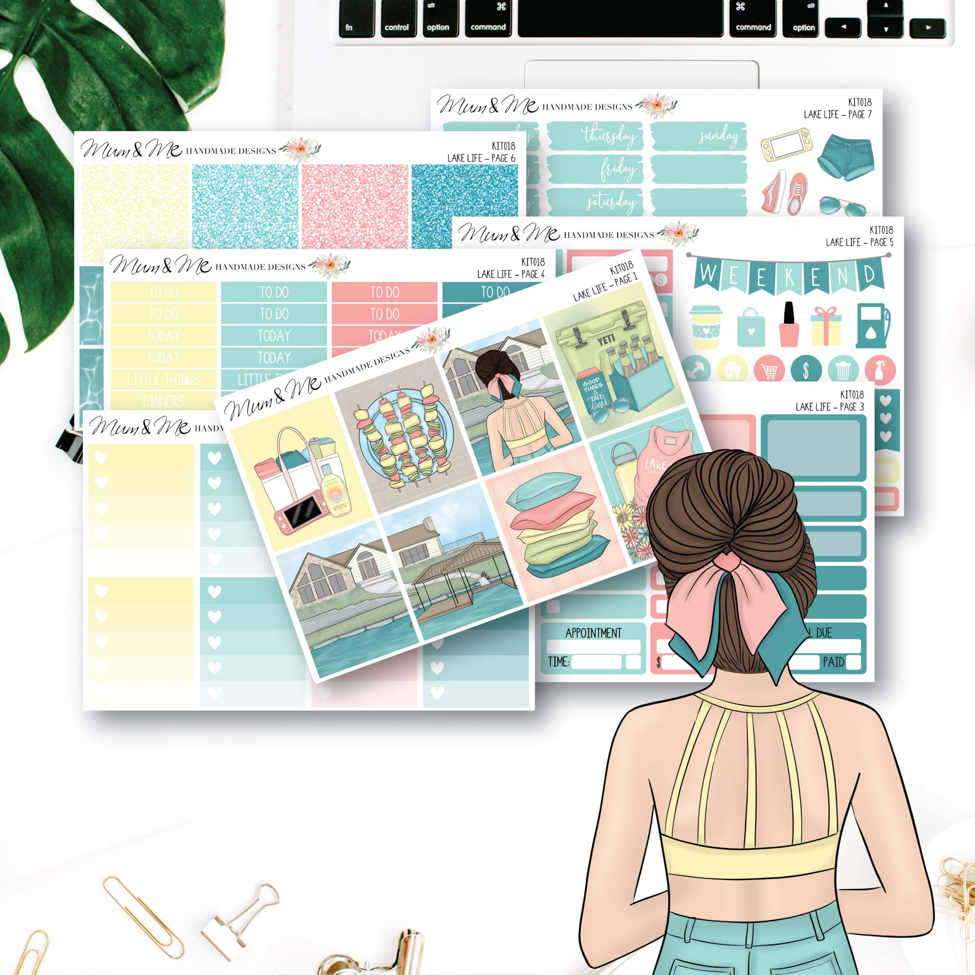 Weekly Kit: Lake Life-Planner Stickers by Mum and Me Handmade Designs - An Australian Online Stationery, Planner Stickers and Card Shop