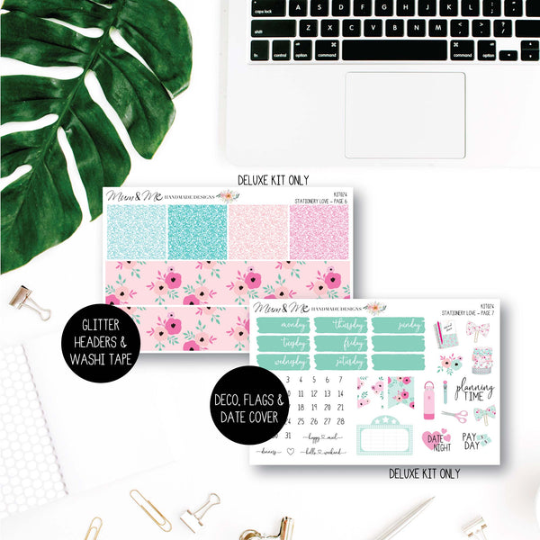 Weekly Kit: Stationery Love-Planner Stickers by Mum and Me Handmade Designs - An Australian Online Stationery, Planner Stickers and Card Shop