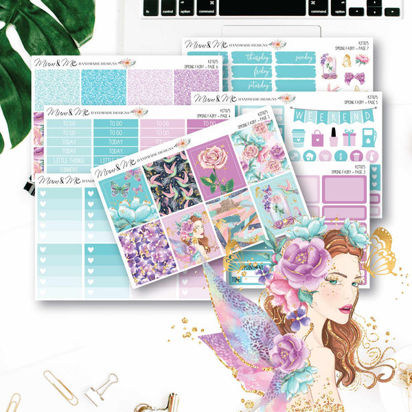Weekly Kit: Spring Fairy-Planner Stickers by Mum and Me Handmade Designs - An Australian Online Stationery, Planner Stickers and Card Shop