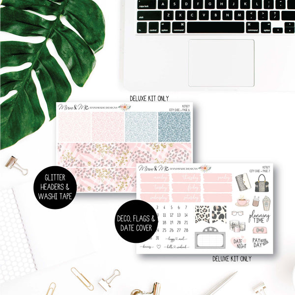 Weekly Kit: City Chic-Planner Stickers by Mum and Me Handmade Designs - An Australian Online Stationery, Planner Stickers and Card Shop