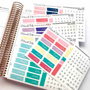 Stickers - Date Covers-Planner Stickers by Mum and Me Handmade Designs - An Australian Online Stationery, Planner Stickers and Card Shop