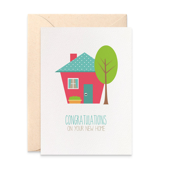 Bright House with Tree Greeting Card by mumandmehandmadedesigns- An Australian Online Stationery and Card Shop