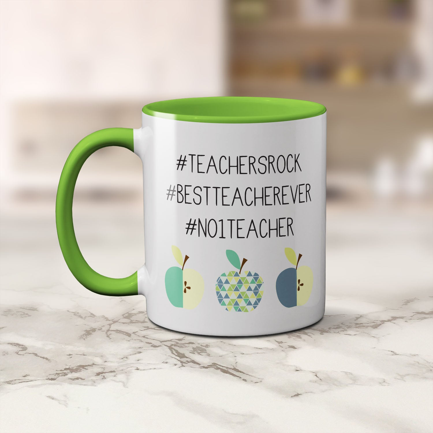 Mug - Teacher Hashtags Green Coffee Mug by mumandmehandmadedesigns- An Australian Online Stationery and Card Shop