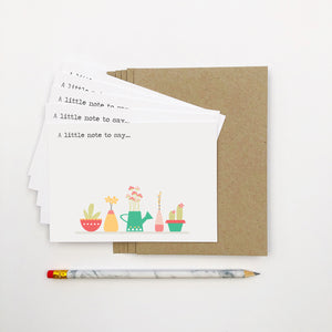 Set of 5 - Pot Plants Notecards by mumandmehandmadedesigns- An Australian Online Stationery and Card Shop