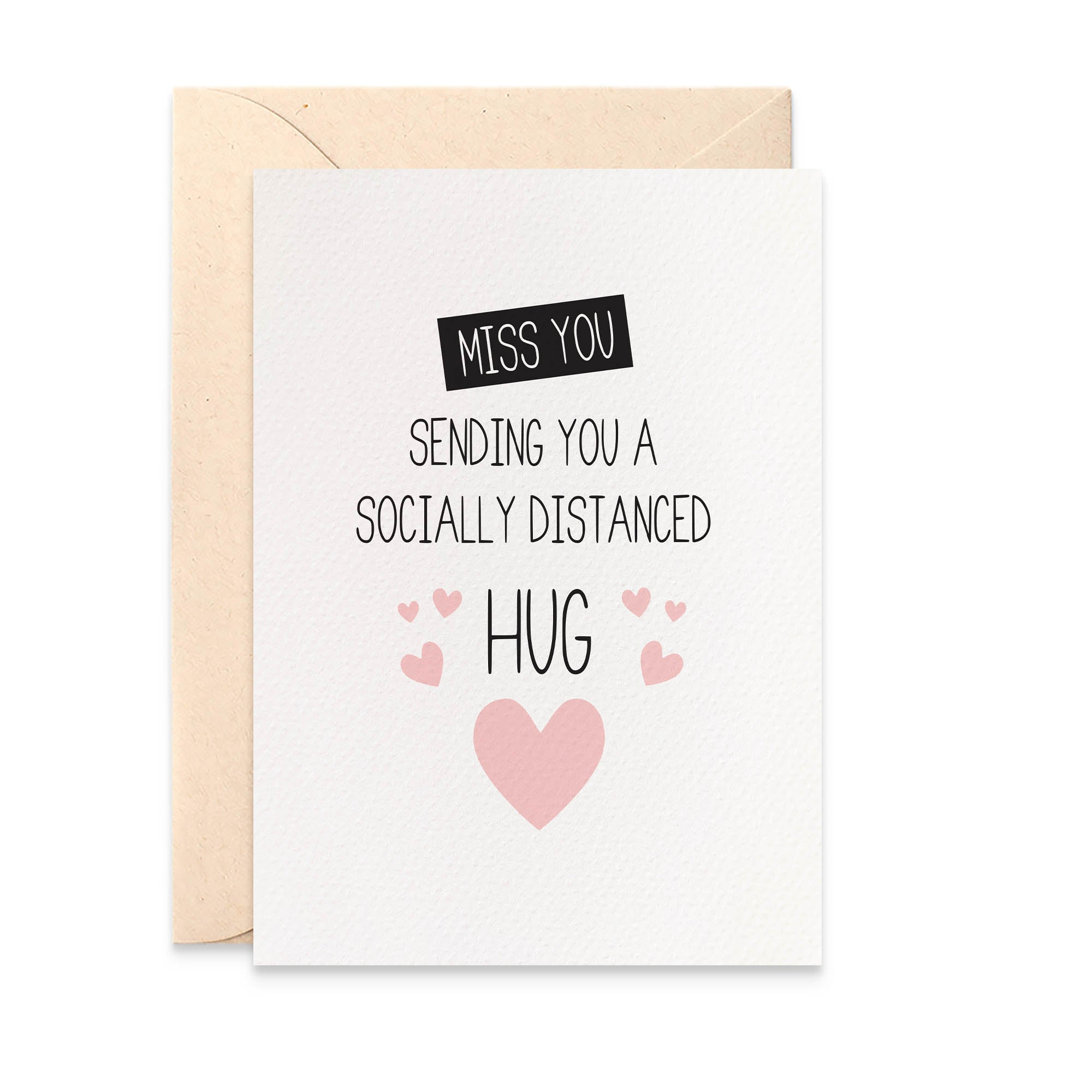 Socially Distanced Hug Greeting Card by mumandmehandmadedesigns- An Australian Online Stationery and Card Shop