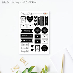 Stickers Large - Snail Mail-Planner Stickers by Mum and Me Handmade Designs - An Australian Online Stationery, Planner Stickers and Card Shop